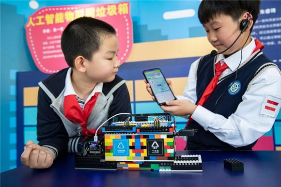 """上海市普陀区少年宫_湿垃圾分类""""神器""""小发明家获全国新时代好少年-教育频道-东方网"""
